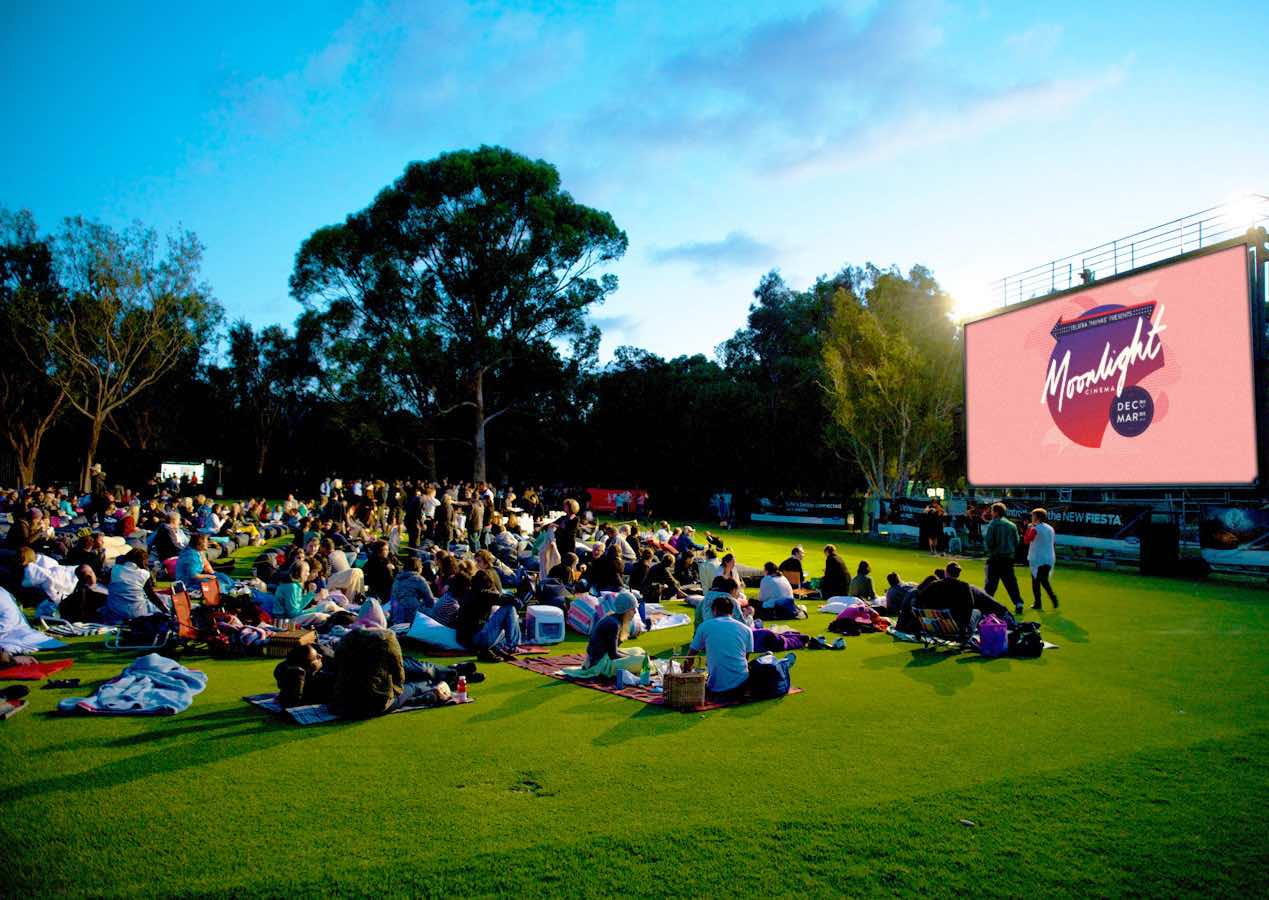 Chilling out at the Moonlight Cinema